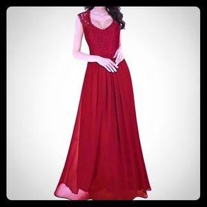 Dresses & Skirts - Long Cherry Red Dress